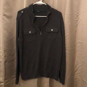 Dark gray men's APT 9 pullover sweater
